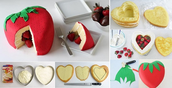 DIY Strawberry Surprise Cake | Home Design, Garden & Architecture Blog Magazine