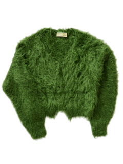 LOVE online store|WOMEN | TOGA  Metal Mohair Knit Cardigan (light green)