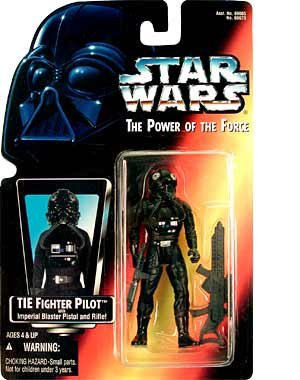 Amazon.com: Star Wars Power of the Force Tie Fighter Pilot Action Figure with Imperial Issue Blaster Pistol: Toys & Games