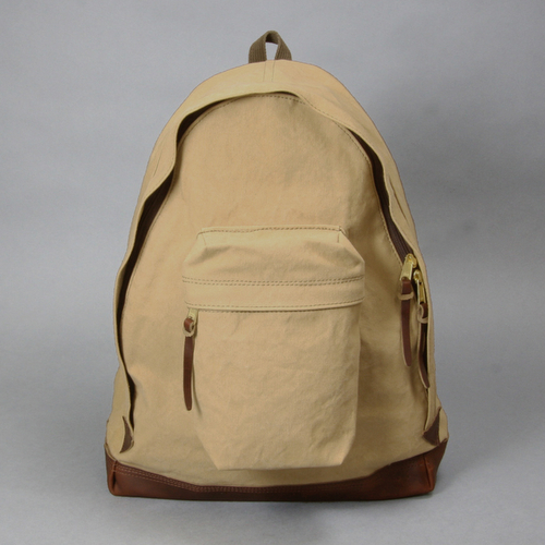 AGING CANVAS / ACUTE DAYPACK(TAN) | evergreen works