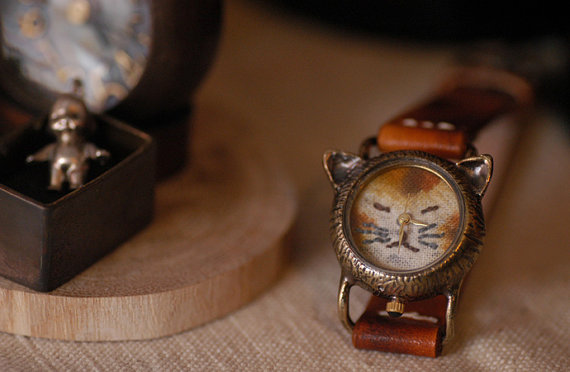 Vintage Retro Steampunk Handcraft Watch. by metaletlinnen on Etsy