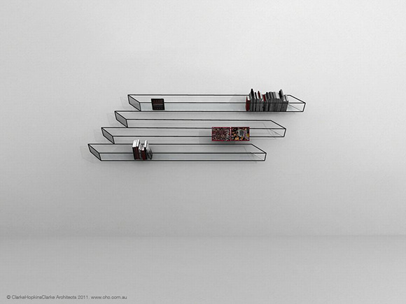 optical illusion bookshelf | Store | Home