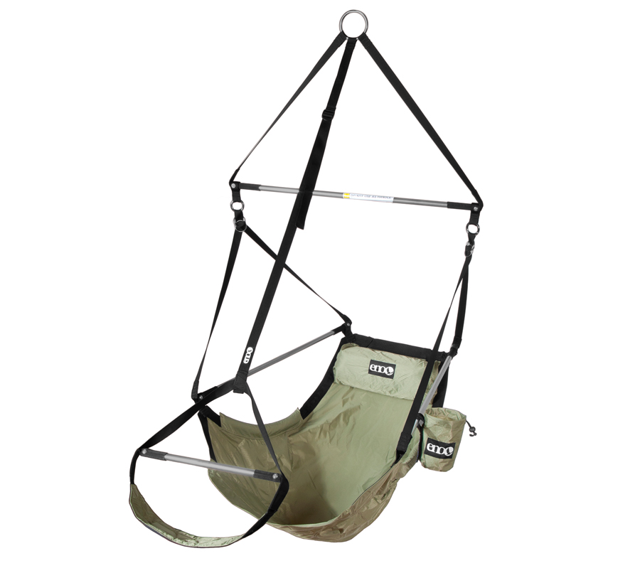 Lounger Chair from Eagles Nest Outfitters Inc. - Lightweight Outdoor Parachute Nylon Hammocks along with optional Slap Straps Hammock Suspension.