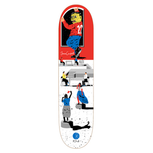 """POLAR - SPACE PLAYER """"Jerome Campbell"""" (7.75 X 31.5) - Growth skateboard elements"""