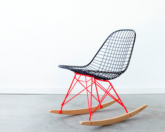 EAMES RKR by CC Custom Flat Black on Marfa Red by castandcrew