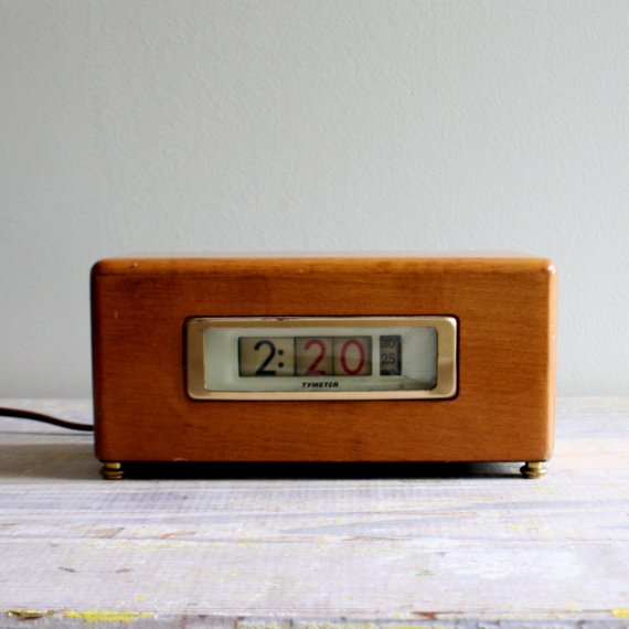 Etsy の Vintage Tymeter Clock by ethanollie