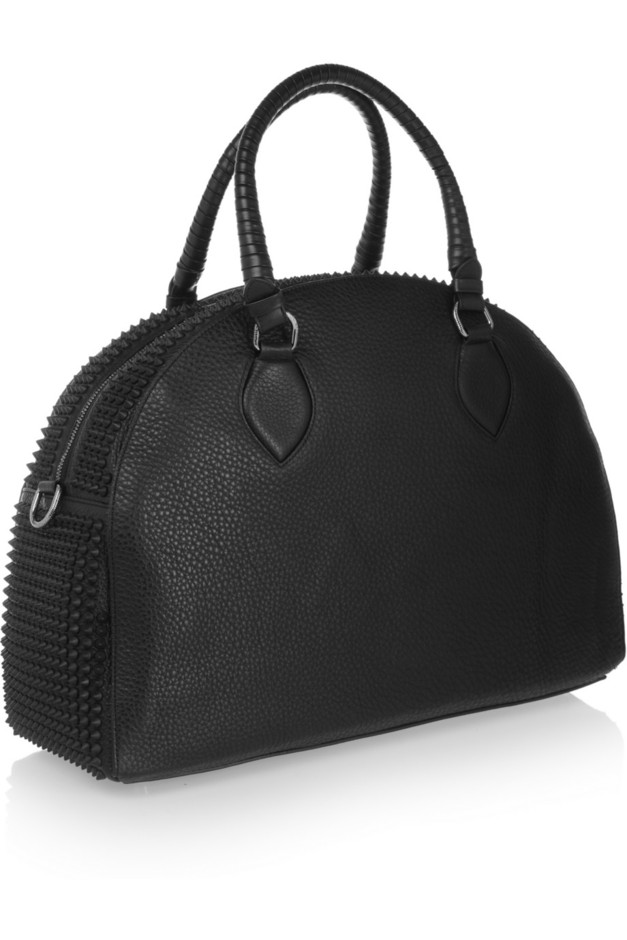 Christian Louboutin | Panattone studded textured-leather tote | NET-A-PORTER.COM
