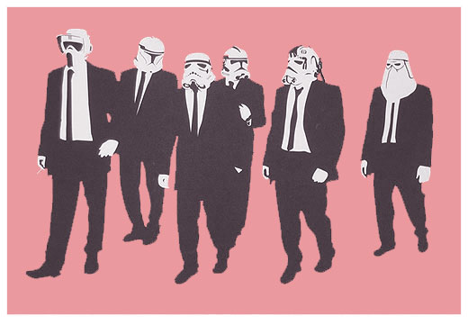 Reservoir Troopers (Pink) (Silkscreen Signed Limited Edition of 60) by RYCA