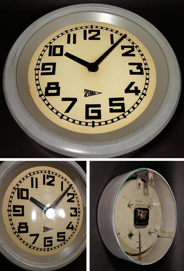 "1930's French ""Art Déco"" Round Wall Clock - FUNNY SUPPLY"
