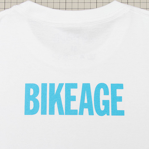 Bikeage Tee - White - cup and cone WEB STORE