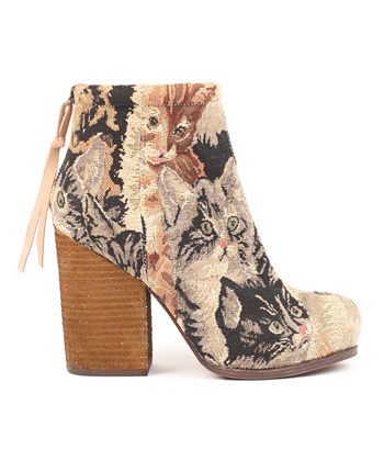 Jeffrey Campbell Rumble Bootie in Cat Tapestry at I Dont Like Mondays -- FREE SHIPPING: I DONT LIKE MONDAYS - an online fashion boutique