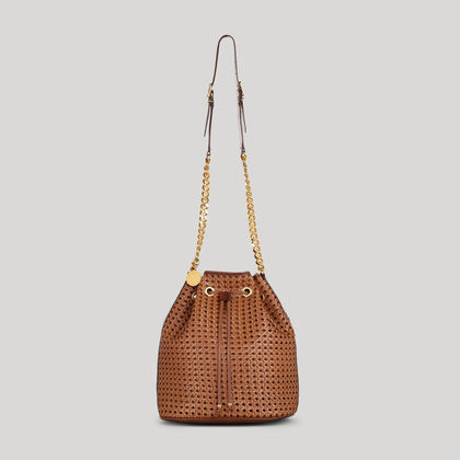 Pembridge Braided Faux Vachetta Bucket Bag