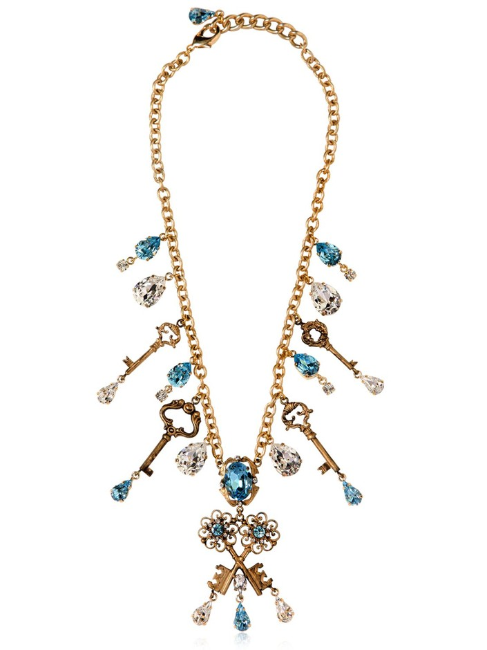 DOLCE & GABBANA - KEY CHARMS NECKLACE - LUISAVIAROMA - LUXURY SHOPPING WORLDWIDE SHIPPING - FLORENCE