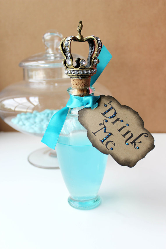 Alice in Wonderland Wedding Drink Me Party Tags by windrosie