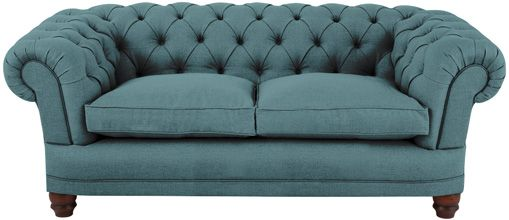 Dunwich medium sofa fitted cover in Plymouth Azure from Sofas and Stuff