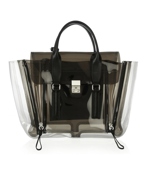 what do i wear?, 3.1 PHILLIP LIM, Pashli transparent PVC tote
