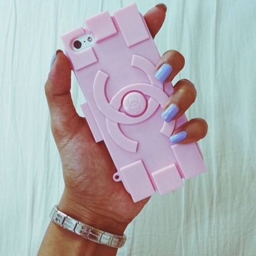 Chanelesque LEGO phone case $35 | We Heart It