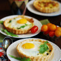 Bacon and egg breakfast cups, baked, with spinach and cheese | Julia's Album