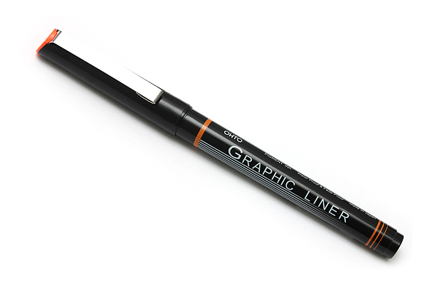 Ohto Graphic Liner Needle Point Drawing Pen - Pigment Ink - 005 - 0.3 mm - Black Ink - JetPens.com