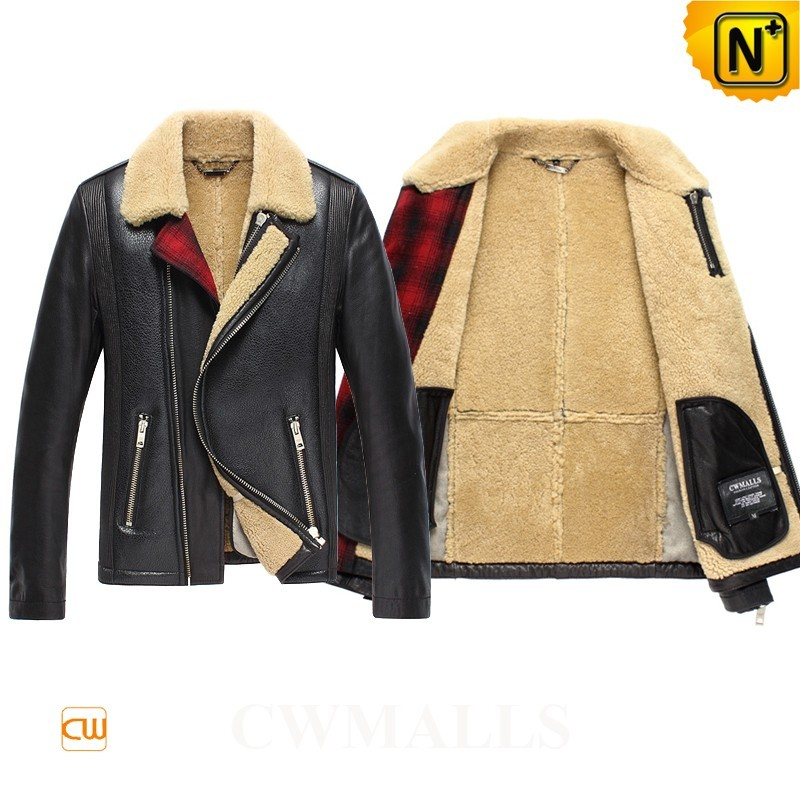 Men Sheepskin B-3 Bomber Jacket CW858338