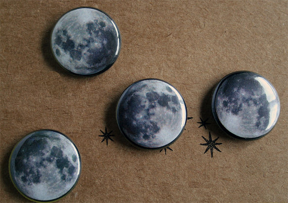 Moon Button pack by sharkskeepmoving on Etsy
