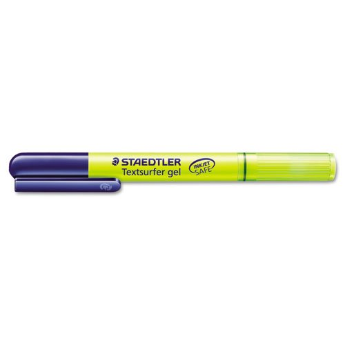 Amazon.com: Staedtler - Textsurfer Gel Highlighter, Yellow, 10/Pk: Office Products