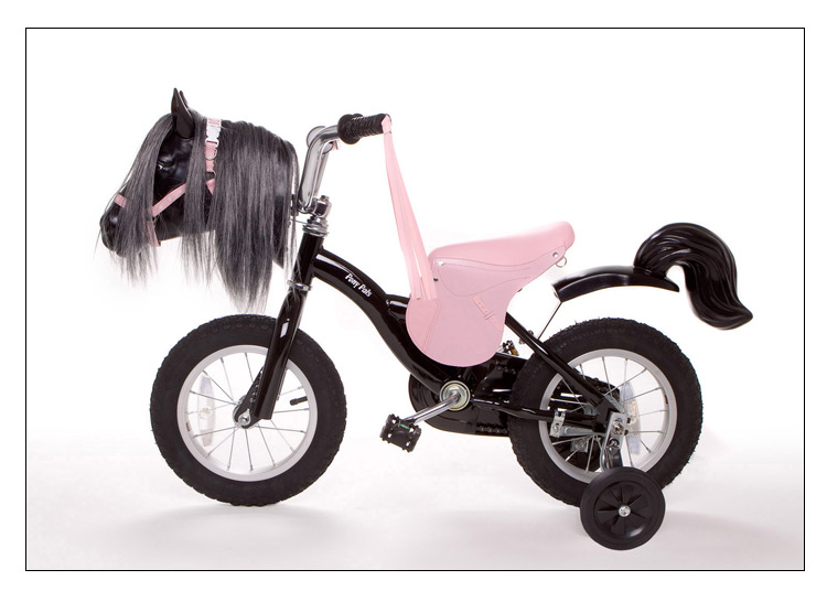 Pony Bikes - Pink Saddle, Realistic Pony bike for young children