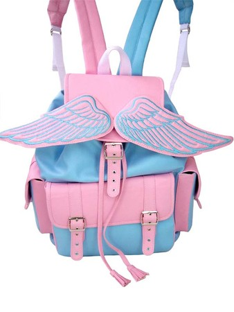 Winged Baby Blue and Pink Sid Backpack