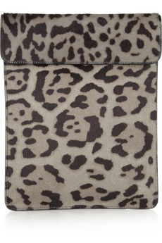 Alaïa | Animal-print calf hair iPad case | NET-A-PORTER.COM