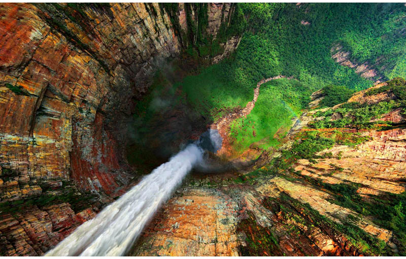 Picture of the Day: Dragon Falls, Venezuela from Above