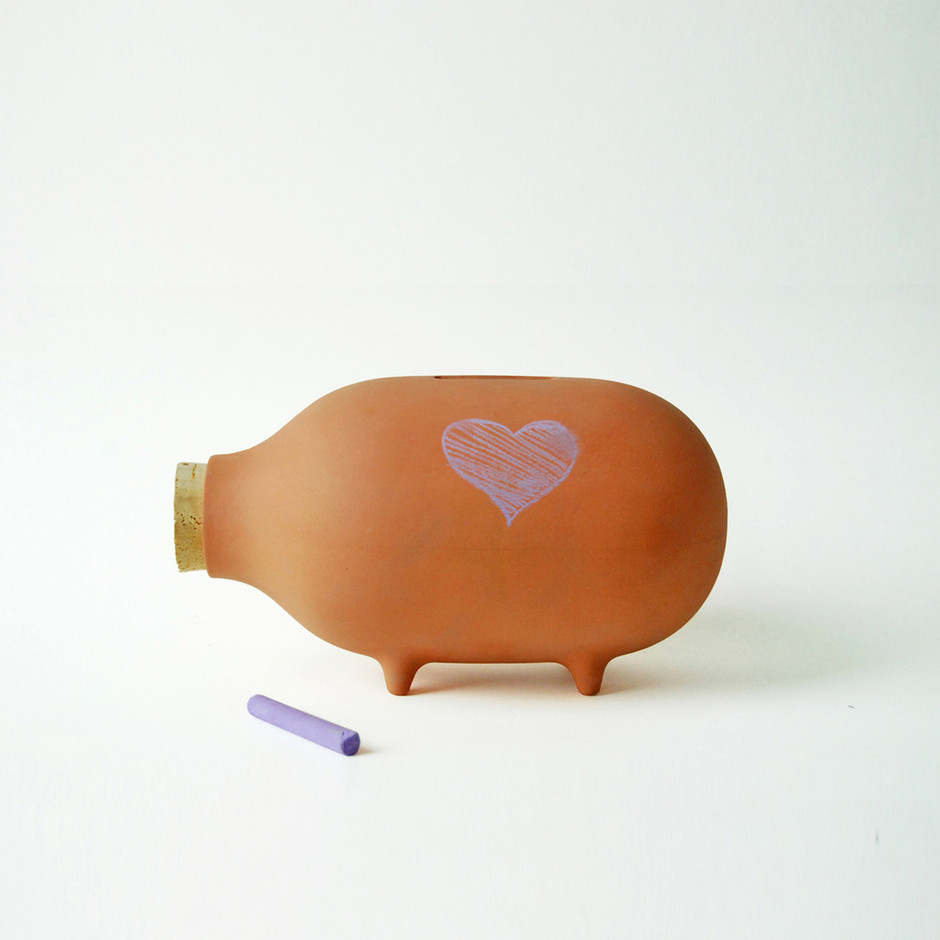 Ladies & Gentlemen Studio — Terra Cotta Chalk Piggy Bank