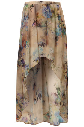 Floral Drop Back Maxi Skirt - Skirts - Clothing - Topshop