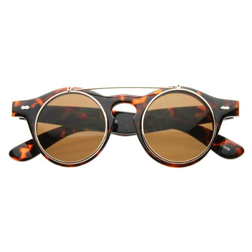 Amazon.com: Small Retro Steampunk Circle Flip Up Glasses: Sports & Outdoors