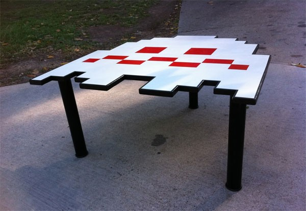 PACMAN Ghost Table LARGE Coffee Table Kitchen by MastersOfFate