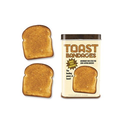 Amazon.com: TOAST Sterile BANDAGES novelty gift gag first-aid kitchen travel: Toys & Games