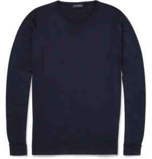 John Smedley Roe Sea Island Cotton Sweater Online via Style Compare