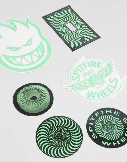 Spitfire Stay Lit Sticker Pack (6) | Skateboard Stickers | Vinyl, Decal & Die Cut Stickers | Route One