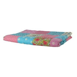 Hand Quilted Patchwork Blanket in Spring Summer Colours - Rice A/S