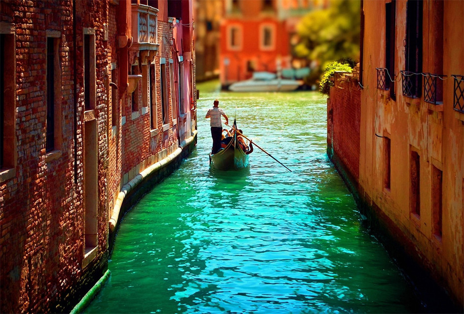 canals of venice, italy photo | one big photo