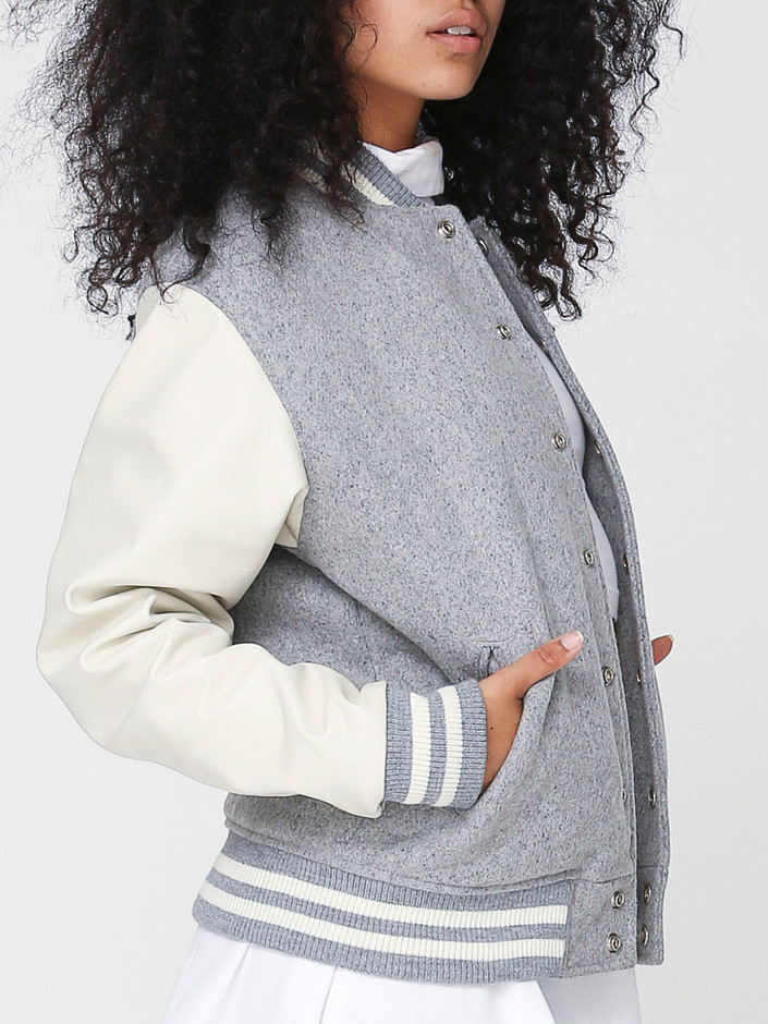 American Apparel - Unisex Club Jacket with Leather Sleeves