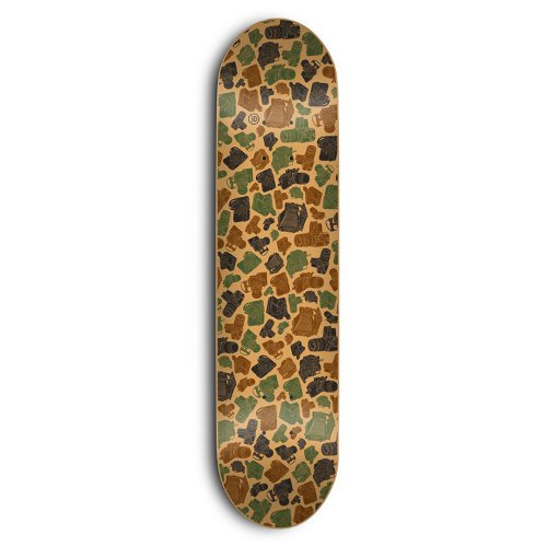 3D - CAMERA CAMO (7.875) - Growth skateboard elements