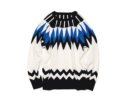 GEOMETRIC CREW NECK KNIT