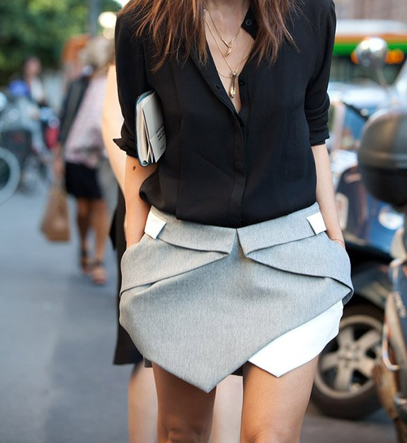 Fancy - Intersection Skirt by Dion Lee