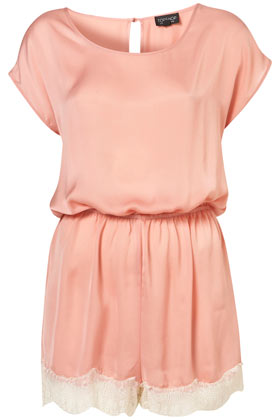 Blush Lace Trim Teddy - Lingerie & Sleepwear - Apparel - Topshop USA