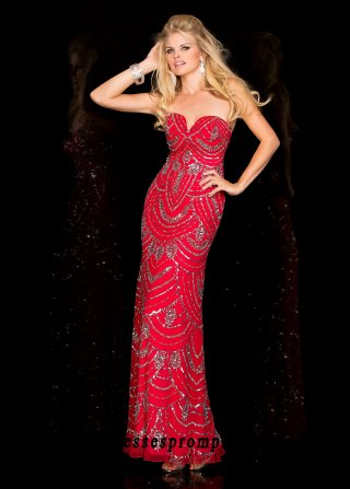 Scala 48567 Strapless Tiered Sequin Evening Dress For Women Style[scala 48567 red] - $159.1 : Buy 2016 Cheap Modest Prom Dresses Gowns Outlet Online Stores