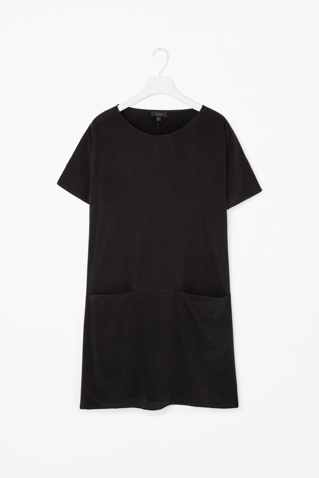 Loose-fit silk dress