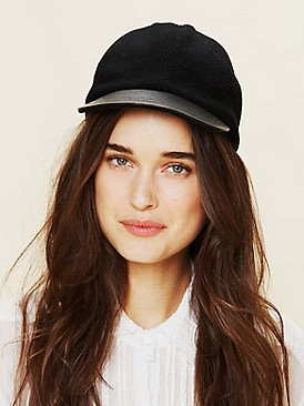 Free People Clothing Boutique > Leather Brim Cap