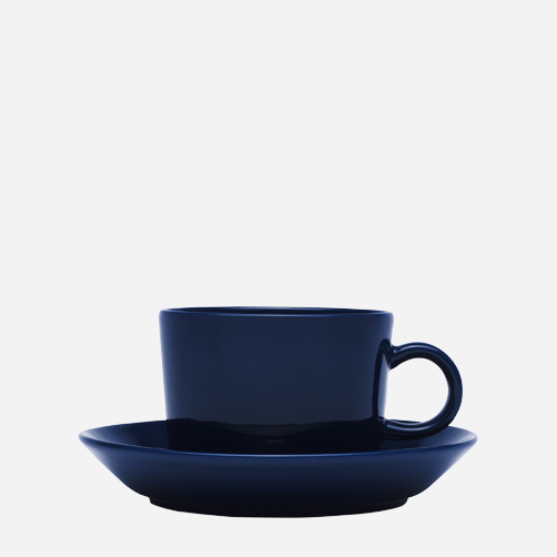 Iittala - Products - Drinking - Hot drinks - Coffee cup 0.22 L/saucer 15 cm, blue