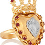 Dolce & Gabbana Sacro Cuore gold and silver-plated Swarovski crystal ring NET-A-PORTER.COM