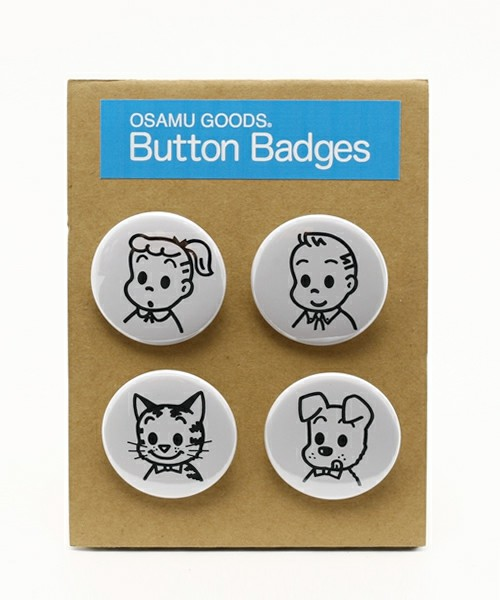 TOKYO CULTUART by BEAMS(トーキョー カルチャート by ビームス) - ●OSAMU GOODS TRIBUTE / CAN BADGE set(バッジ)|ビームス公式通販[BEAMS Online Shop]